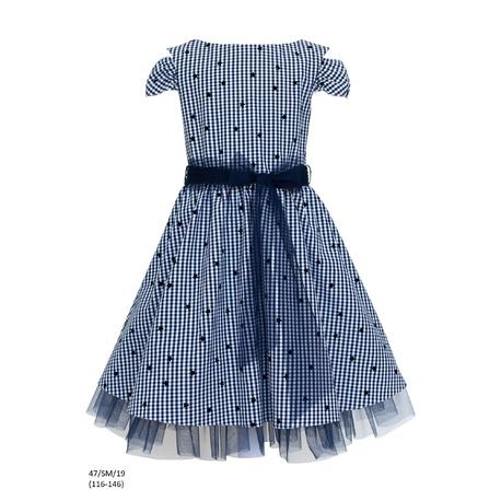 Sukienka z tiulem na dole 47/SM/19,na wesela,szkolna,letnia,sklep