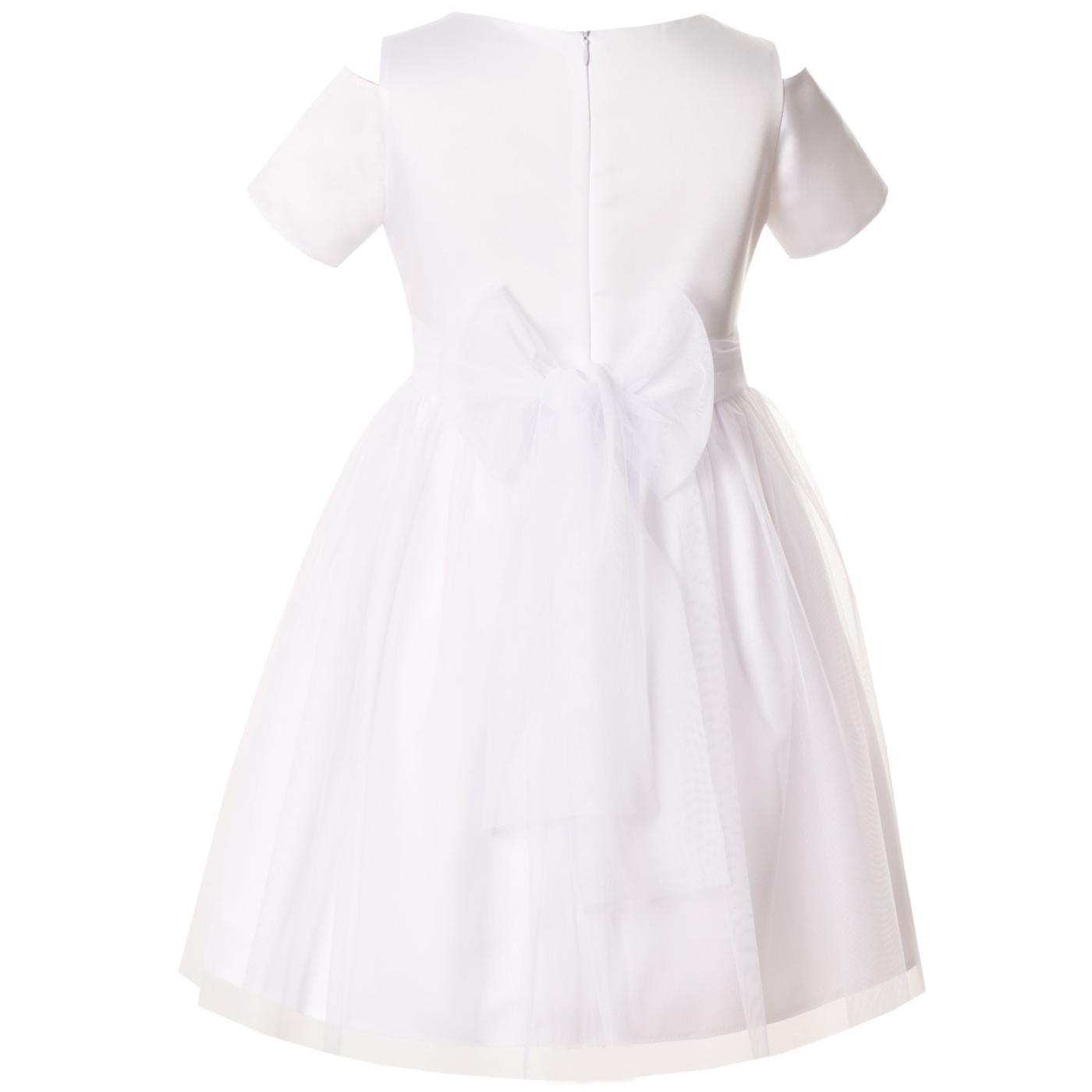 b901f5b68e ... Sukienka wizytowa dla dziewczynki z koronką Charlotte biała