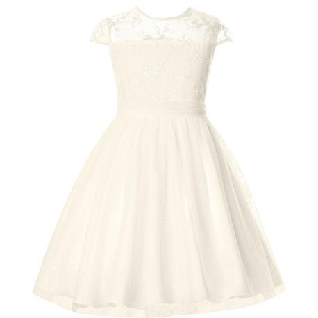 Sukienka z tiulu dla dziewczynki Rebecca Ecru,pokomunijna,wesela,śluby,sklep