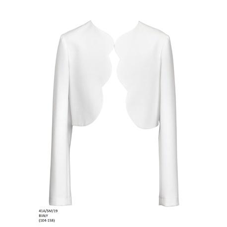 Bolerko dziewczęce do I Komunii Świetej 41A/SM/19, białe, do sukienki,na wesela,ubranka dla dzieci,