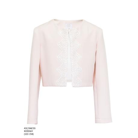 Bolerko dla dziewczynki komunijne Różowe 43C/SM/19,do sukienki wizytowej,eleganckiej, e-zygzak.pl