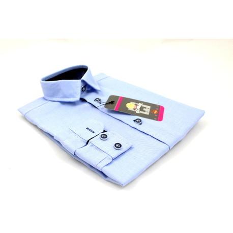 Koszula chłopięca Błękitna, wizytowa, szkolna, na wesela, sklep z odzieżą dziecięcą