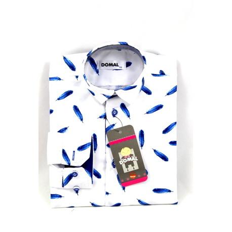 Koszula chłopięca Piórka,elegancka, na wesela,na urodziny, wizytowa,e- zygzak.pl
