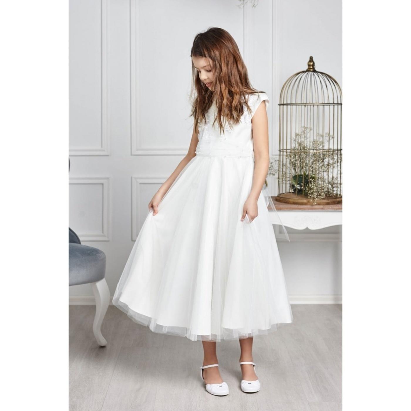 371987bff4 ... Sukienka komunijna tiulowa Eliza Ecru