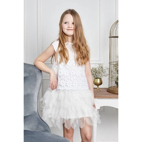 Sukienka na komunię dla dziewczynki Jenifer,na wesela,tiulowa,z koronką,e-zygzak.pl