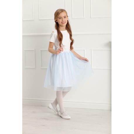 b57d5d5c Sukienka wizytowa dla dziewczynki z koronką Charlotte błękitna