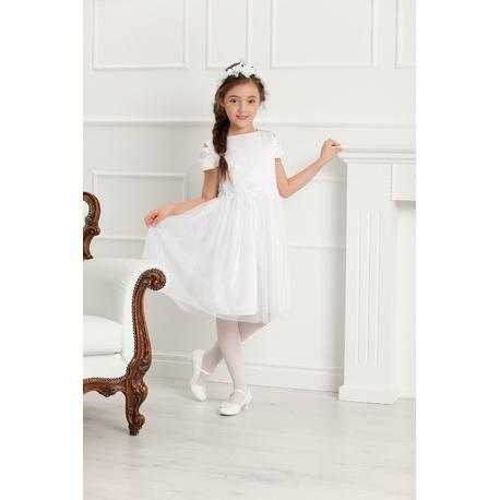 c972ca41 Sukienka wizytowa dla dziewczynki z koronką Charlotte biała
