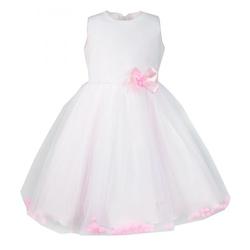 Sukienka dla małej księżniczki Karolcia, z pomponikami,na wesele, okazjonalna,sklep e-zygzak.pl