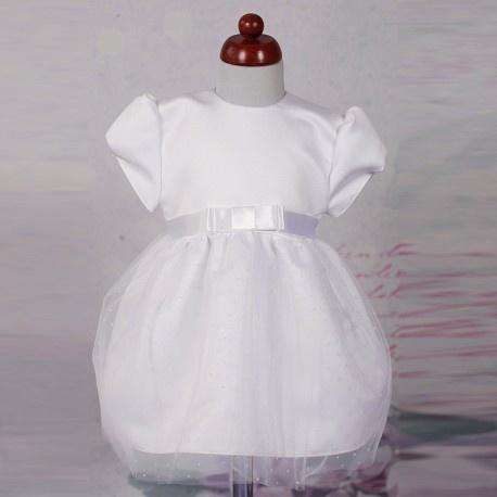 Biała Sukienka do Chrztu CHRZ-32