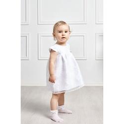 Sukienka dla dziewczynki na Chrzest Daisy 62-86, biała, elegancka,na wesela,sklep e-zygzak.pl