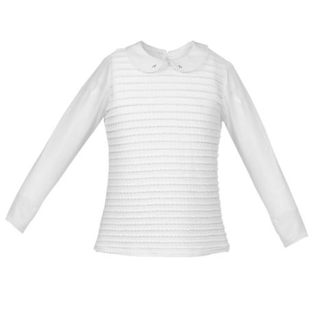 Biała bluzka z kołnierzykiem Iva, dla dziewczynki, szkolna,do spódniczek i spodni,sklep dla twojego dziecka