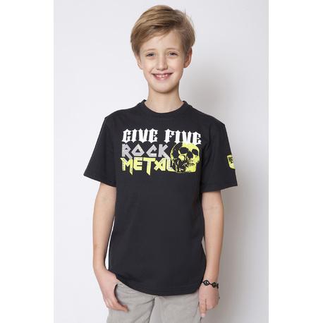 T-shirt chłopięcy Rock Metal - GF-5 czarny