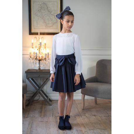 Elegancka bluzka wizytowa dla dziewczynki 114/S/19,z koronką,szkolna, ubranka wizytowe