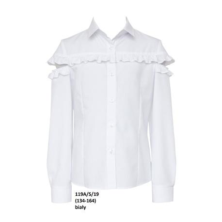 Bluzka koszulowa dla dziewczynki z falbanką 119A/S/19,wizytowa, elegancka, ubranka wizytowe,sklep e-zygzak.pl
