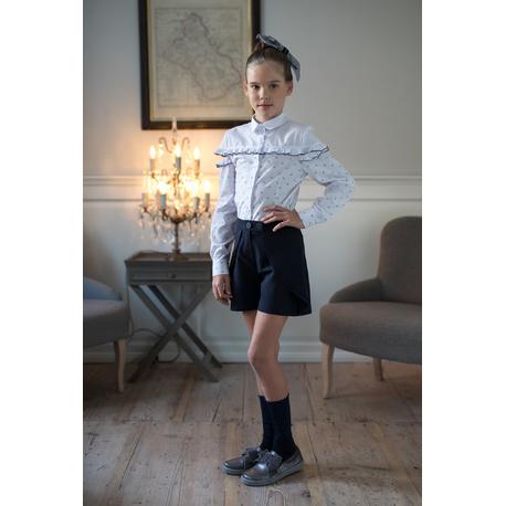 Bluzka koszulowa dla dziewczynki z falbankami 119B/S/19