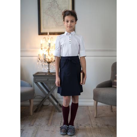 Bluzka dziewczęca wizytowa z rękawem 3/4 128/S/19,szkolna,strój galowy,ubranka dla dzieci, sklep