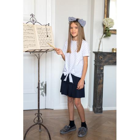 Spódniczka dziewczęca wizytowa, szkolna granatowa 309B/S/19,strój galowy dla dziewczynki,sklep e-zygzak.pl