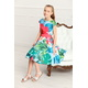 Sukienka dziewczęca Alyssa hawajskie kwiaty,na wesele, elegancka, na lato, sklep e-zygzak.pl