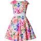 Elegancka sukienka dla dziewczynki Alyssa kolorowe kwiaty, letnia, elegancka, sklep dla twojego dziecka