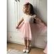 Sukieneczka dziewczęca z tiulem Grace róż, elegancka, na wesela, ubranka wizytowe, sklep e-zygzak.pl