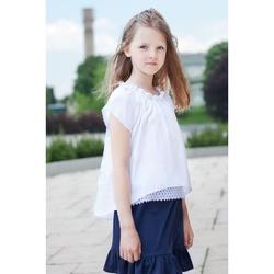 Bluzka dziewczęca Hiszpanka biała Pamela, szkolna, na uroczystości, do spódnicy, sklep e-zygzak.pl