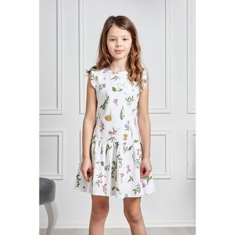 Zwiewna sukienka dla dziewczynki Flora, na lato, kwiatowa, bawełniana, e-zygzak.pl