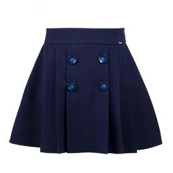Spódnica dziewczęca granatowa szkolna Iza, na galowo, ubranka dla dzieci, sklep e-zygzak.pl