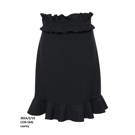 Spódnica szkolna elegancka dziewczęca 305A/S/19,czarna, ubranka dla dziewczynek, wizytowe, e-zygzak.pl