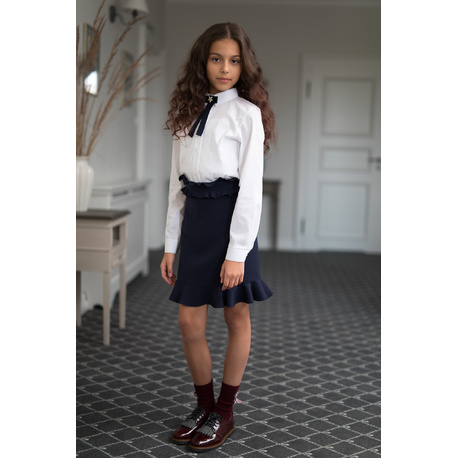 Spódnica, szkolna, elegancka, dziewczęca, granatowa 305B/S/19,ubranka dla dzieci, na galowo,e-zygzak.pl