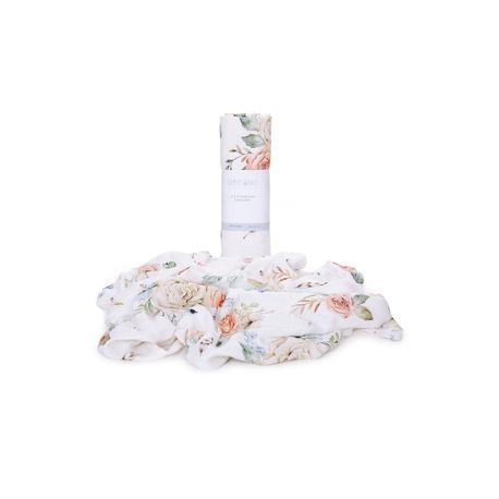 Otulacz muślinowy bambus VINTAGE Flowers 120x120, dla niemowląt, do wózka, na spacer, e-zygzak.pl