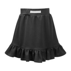 Spódnica dziewczęca z falbaną Wera czarna, na galowo, elegancka, e-zygzak.pl