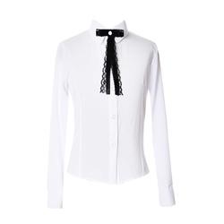 Bluzka koszulowa dla dziewczynki szkolna z krawatką, taliowana, z kołnierzykiem, do spódnicy, e-zygzak.pl