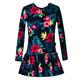 Kwiatowa sukienka dla dziewczynki Erin, z falbaną, z długim rękawem, e-zygzak.pl
