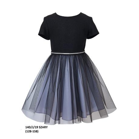 Elegancka sukienka dla dziewczynki 14D/J/19,z tiulem,szkolna,wizytowa, sklep e-zygzak.pl