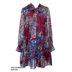 Wielokolorowa sukienka dladziewczynki 13A/J/19, w stylu Boho, z kokardą, z falbaną, sklep