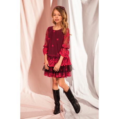 Dziewczęca sukienka w sylu Boho 5C/J/19, koronkowa, delikatna, sklep