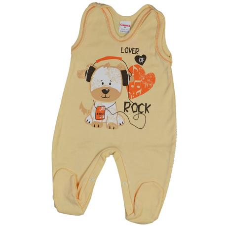 Śpioch niemowlęcy Gamex żółty, bawełniany, mięciutkie, dla niemowląt, sklep e-zygzak.pl