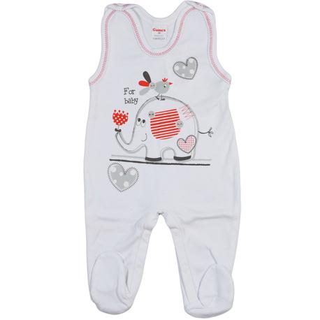 Śpioch niemowlęcy Gamex biały, bawełniane, zapinane na napy, dla niemowląt, e-zygzak.pl