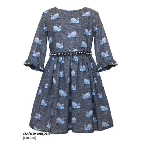 Bawełniana sukienka dla dziewczynki 18A/J/19, mieciutka, wygodna,do szkoły, sklep e-zygzak.pl