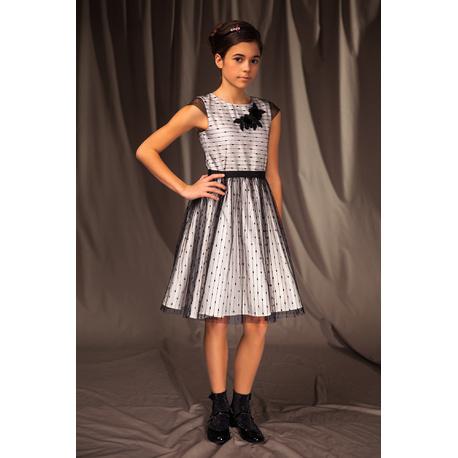 Wizytowa sukienka dla dziewczynki 4A/J/19,tiulowa,elegancka, na uroczystości, e-zygzak.pl
