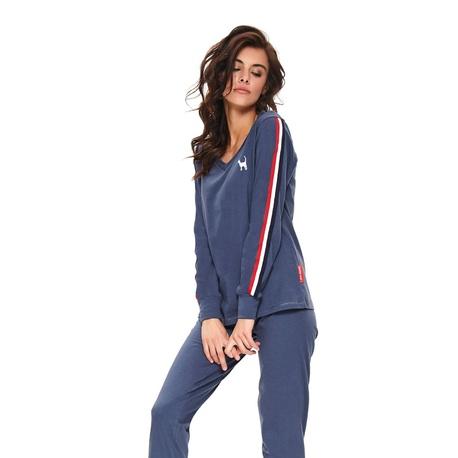 Doctor Nap Dwuczęściowa piżama w sportowym stylu z lampasami