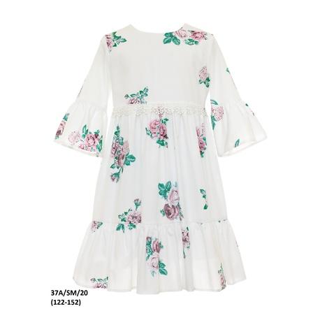 Stylowa sukienka dla dziewczynki 37A/SM/20, z falbanami, na przebranie po komunii,sklep -zygzak.pl