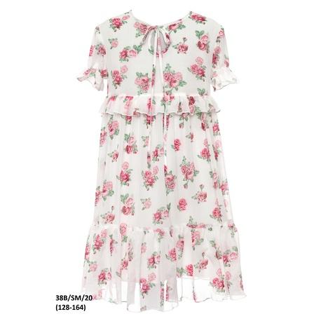 Sukienka dla dziewczynki w stylu Boho 38B/SM/20, na przebranie po komunii, kwiatowa, sklep e-zygzak.pl