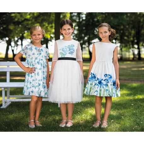 Sukienka dla dziewczynki w stylu Boho 38C/SM/20,na przebranie po komunii, kwiatowa, e-zygzak.pl