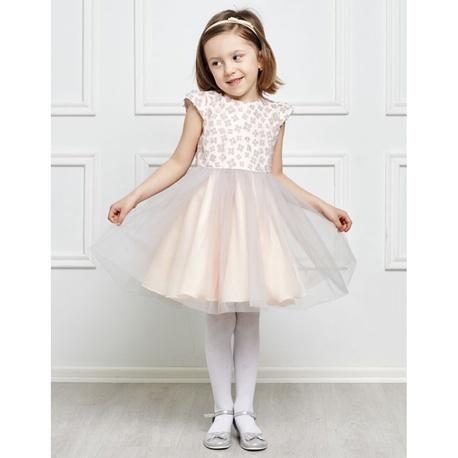 Tiulowa sukienka dla dziewczynki Otylia szara,sukienki na komunie,eleganckie,sklep dziecięcy