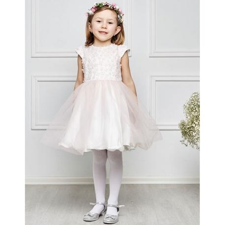 Sukienka z tiulem dla dziewczynki Otylia brzoskwinia,na komunię, sukienki wizytowe