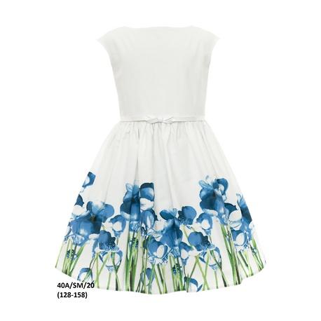 Dziewczęca sukienka rozkolszowana 40A/SM/20, kwiatowa, na wesela, sklep e-zygzak.pl