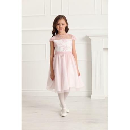 Sukienka z tiulu dla dziewczynki Rebecca Róż, na przebranie po komunii, na wesela,sklep internetowy