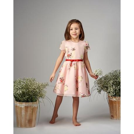 Sukienka dla dziewczynki w kwiatowy wzór Kornelia, na przebranie po komunii, na wesele, wizytowa,e-zygzak.pl