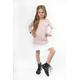 Sukienka dresowa z plisą dla dziewczynki, różowa, na sportowo do szkoły, sklep e-zygzak.pl